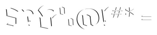 Dark Angel Highlight Font OTHER CHARS