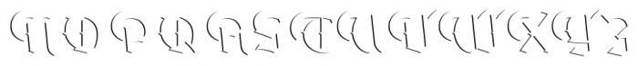Dark Angel Highlight Font UPPERCASE