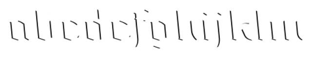 Dark Angel Highlight Font LOWERCASE