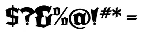 Dark Angel Regular Font OTHER CHARS