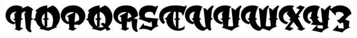 Dark Angel Regular Font UPPERCASE