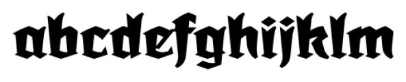 Dark Angel Regular Font LOWERCASE