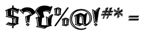 Dark Angel Underlight Font OTHER CHARS