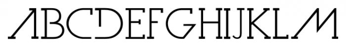 Dark Moon Serif Light Font LOWERCASE