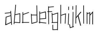 Dastardly Deeds SRF Regular Font LOWERCASE