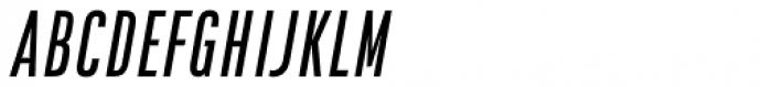 Da Bronx Sans Regular Italic Font UPPERCASE