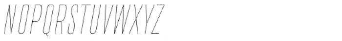 Da Bronx Sans Thin Italic Font UPPERCASE