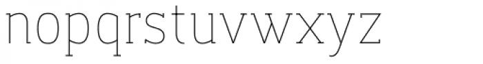 Dada Slab Pro ExtraLight Font LOWERCASE