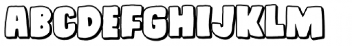 Daddy in space Shadow Font LOWERCASE
