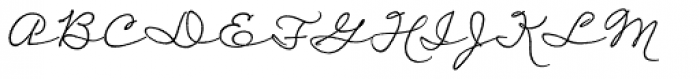 Daddy's Hand Font UPPERCASE