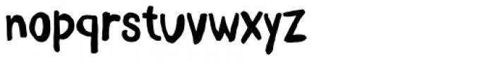 Daft Brush Text Font LOWERCASE