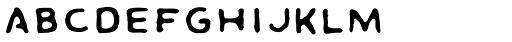 Dai Vernon Misdirect Font LOWERCASE