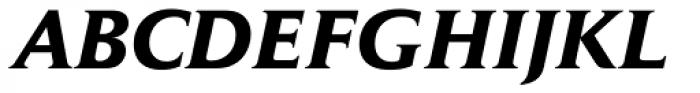 Daily News BQ Bold Italic Font UPPERCASE