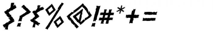 Dalek Italic Font OTHER CHARS