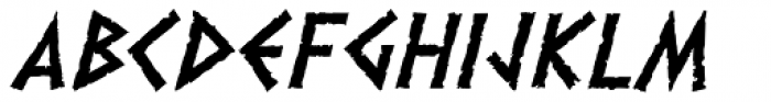 Dalek Italic Font UPPERCASE