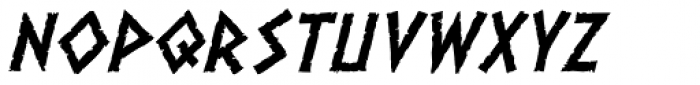 Dalek Italic Font LOWERCASE