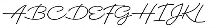 Dallas Print Shop Pen Font UPPERCASE