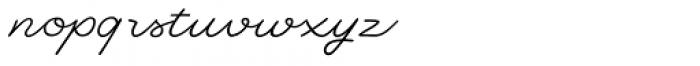 Dallas Print Shop Pen Font LOWERCASE