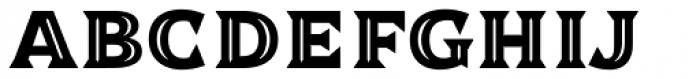 Dallas Print Shop Serif Inline Font UPPERCASE