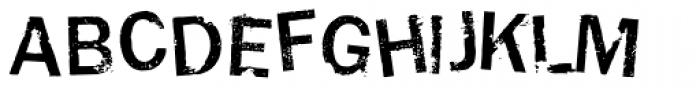 Damaged Guts 2 Font UPPERCASE