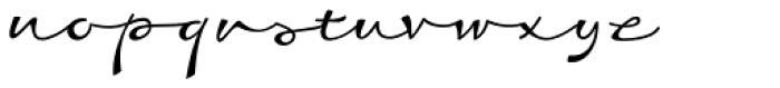 Dambera Retro Font LOWERCASE