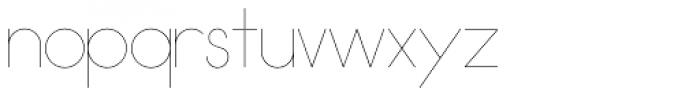 Damian Thin Font LOWERCASE