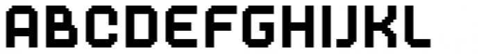 Dance Floor Bitmap Font LOWERCASE