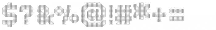 Dance Floor Grid Font OTHER CHARS