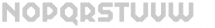 Dance Floor Grid Font UPPERCASE