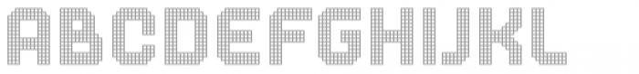 Dance Floor Grid Font LOWERCASE
