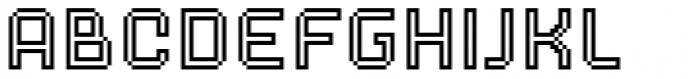 Dance Floor Inline Font LOWERCASE