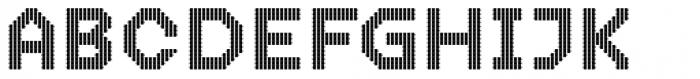 Dance Floor Lightbulbs Font UPPERCASE