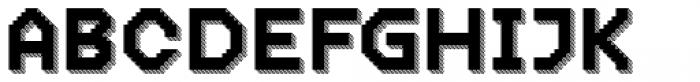 Dance Floor Striped Prism Font UPPERCASE