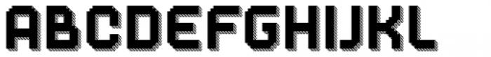Dance Floor Striped Prism Font LOWERCASE