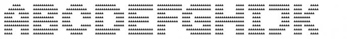 Dance Floor Triangle Bars Font UPPERCASE