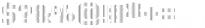 Dance Floor Vertical Outline Font OTHER CHARS