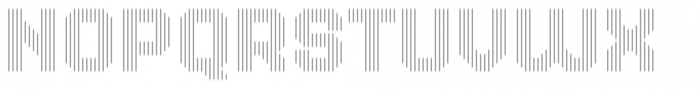 Dance Floor Vertical Outline Font LOWERCASE