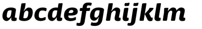 Dancer Pro Black Italic Font LOWERCASE