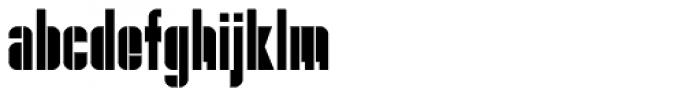 Danger Block Font LOWERCASE