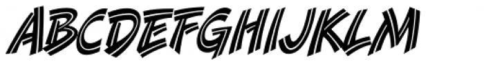 Danger Girl Inline Font UPPERCASE
