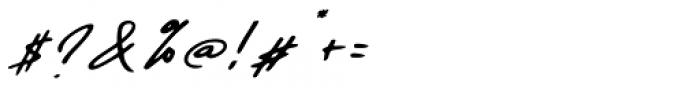 Daniels Signature Oblique Font OTHER CHARS