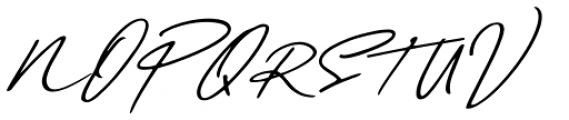Daniels Signature Oblique Font UPPERCASE