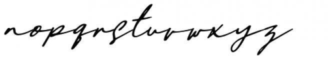 Daniels Signature Oblique Font LOWERCASE