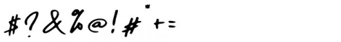 Daniels Signature Signature Font OTHER CHARS