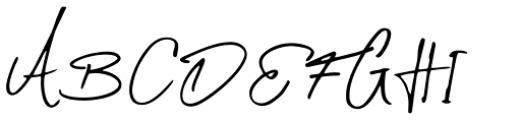 Daniels Signature Signature Font UPPERCASE