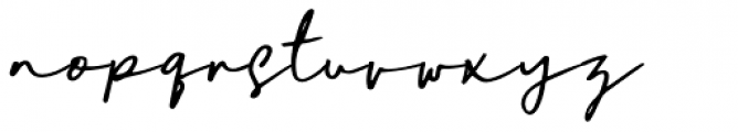 Daniels Signature Signature Font LOWERCASE