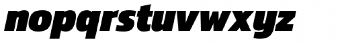 Danos Black Italic Font LOWERCASE