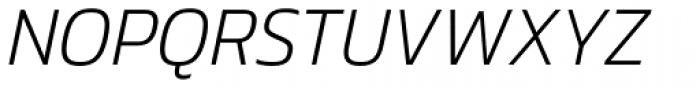 Danos Extra Light Italic Font UPPERCASE