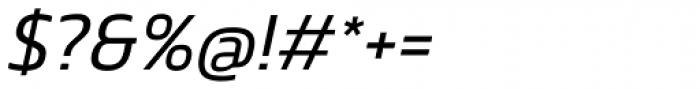 Danos Light Italic Font OTHER CHARS