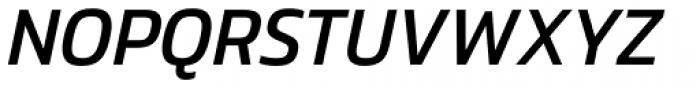 Danos Regular Italic Font UPPERCASE